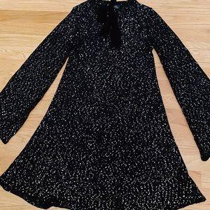 Black sparkly tahari dress